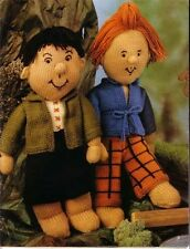 Knitting pattern- 2 great dolls with outfits for you to knit, lovely pattern