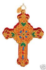 RADKO 1014408 DEVINE DECOR - RELIGOUS CROSS - RETIRED ORNAMENT