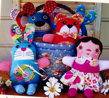 SALE - PATTERN - Snuggles, Huggles and Cuddles - cute cloth doll PATTERN