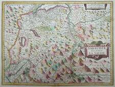 MERCATOR HONDIUS FRANKREICH SCHWEIZ ITALIEN SAVOYEN PIEMONT GENFER SEE 1631