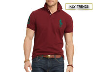 Ralph Lauren Men's Big Pony Mesh Polo Shirt Custom Slim Fit. RRP £75 Size Medium
