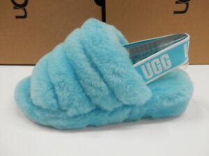 UGG Womens Fluff Yeah Slide Clear Water 7