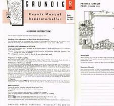 Grundig Music-Boy Transistor 200 E Schaltplan Manual original 1960 mega selten !
