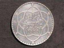 MOROCCO 1911(AH 1329) 1/2 Rial Silver AU-UNC