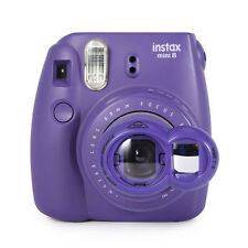 Close Up Lens+Selfie Mirror for Fujifilm Instax Mini 9 8 7s Polaroid 300 -Purple