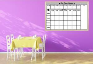Family Planner Dry wipe Wooden Whiteboard Personalised Organising Week Schedule