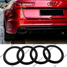 NUOVO Nero Lucido POSTERIORE BOOT Badge Emblema Anelli Logo per Audi 216x75mm no foratura