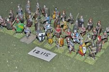 25mm medieval / generic - early infantry 40 figs - inf (12115)
