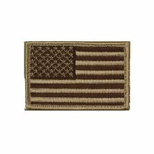 Tan Brown USA Stars and Stripes Self Adhesive Tactical Flag Patch 2x3in Forward