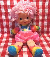 """Vtg 80s Rainbow Brite Tickled Pink Doll Hallmark Collectible 15"""" Htf Euc Gift"""