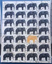 Elephant Republican Orange President Donald Trump GOP Canvas wall art print