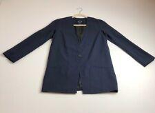Madewell Women's Navy Blue Flat Iron Blazer Coat 00 Chic Fall 3/4 Sleeves E8880