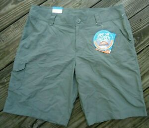 Columbia Omni Shade Shorts UPF 30 Olive Green Regular Fit Size 10 NWT