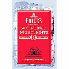 Price's Nightlights Unscented Tea Light Candles Pack of 50