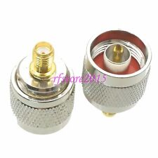 1pce Adapter Connector N male plug to SMA female jack straight for WIFI antenna