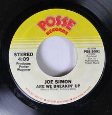Soul 45 Joe Simon - Are We Breakin' Up / Baby, When Love Is In Your Heart (It'S