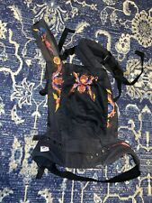 Ergo Organic Baby Carrier In Black With Embroidery