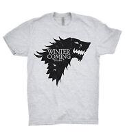 Stark House T Shirt Winter Is Coming Game Of Thrones Jon Snow Arya Sansa Bran