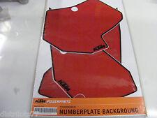 kit stickers fond de plaque numéro rouge KTM  SX 2007-2010   SMR   2008-2010