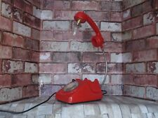 Retro table/desk lamp up cycled telephone