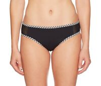 Profile Blush by Gottex Womens Swimwear Black Large L Mesh Bikini Bottom $48 715