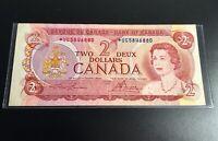 1974 CANADA Lawson-Bouey $2 Dollar **STAR** Note, AU, Bright Colors, Nice!