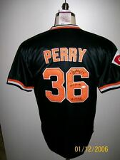 GAYLORD PERRY SIGNED SAN FRANCISCO GIANTS BLACK JERSEY JSA