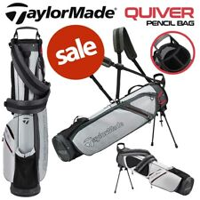 TaylorMade Quiver Golf Pencil Stand Carry Bag Dual Strap Grey/Black - NEW! 2021