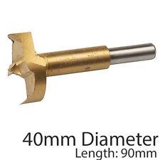 Pro 40mm titanio recubiertos Forstner Brocas – Serrucho de fondo plano/Núcleo Perforación Cortador