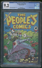 People's Comics CGC 9.2 OW/W R Crumb Harvey Pekar Death of Fritz the Cat