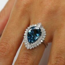 14ct (20*15) Pear Cut Sapphire Cocktail Party Bridal Wedding Engagement Ring