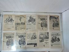 1945-1969 Harley Davidson Magazine Article Clippings Vintage (Lot #4)