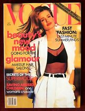 Vogue Magazine ~ July 1991 ~ Karen Mulder Yasmeen Ghauri Cindy Crawford