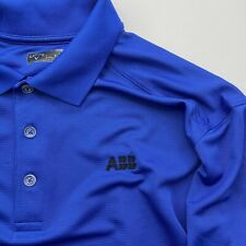 Callaway Golf Polo Shirt Blue Golf Apparel Men's Size XL ABB Logo