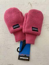 Patagonia Synchilla Pink Fleece Mittens XS (0-6mo)
