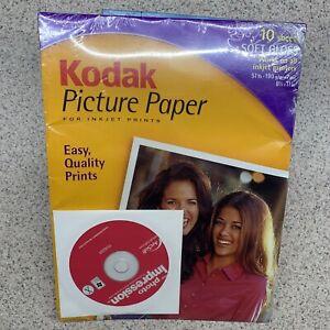 (EH) Kodak Picture Paper 10 Sheet Soft Gloss 8.5 x 11  Free US Shipping