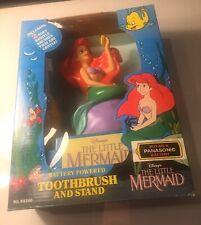 Vintage 1991 Disney The Little Mermaid Powered Toothbrush & Stand (Janex #93200)
