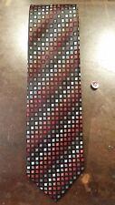 GIORGIO BRUTINI RED ORANGE BLACK SQUARE DOT MENS NECKTIE FREE SHIPPING