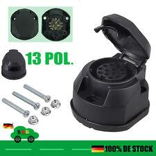 Anhänger Steckdose 13 Polig + Dichtung & Schraubensatz Anhängerkupplung PKW KFZ