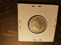 Canada 1947 25 Cent Silver Coin Id#j129.
