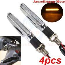 4x Flowing Universal Motorcycle Motorbike LED Turn Signal Indicator Light Amber