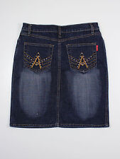 Influence womens size 10 knee length blue denim skirt