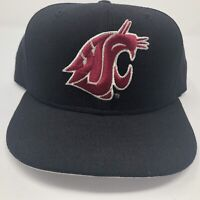 Washington State Cougars WAZZU New Era 5950 Baseball Hat Fitted 7 3/8 Wool Cap