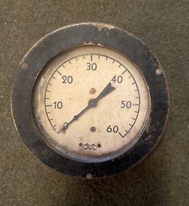 ANTIQUE Gauge PRESSURE GAUGE . USA Steampunk Repurpose Iowa