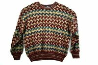Vintage North Winds Mens 3XL Zig Zag Knit Multicolor Pullover Crew Neck Sweater