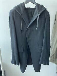 Ann Demeulemeester Cutaway Hooded Blazer Jacket size XXS