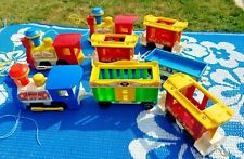 Vintage Fisher Price  Circus Train -Lot of 8 pieces!
