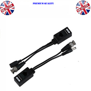 BNC to RJ45 UTP CAT5 Video Data Power Balun For HD CCTV PTZ Camera Connector PVD