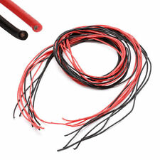 22AWG Gauge Silicone Wire Flexible Stranded V# Copper Cables 5m For RC Black Red