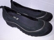 Merrell Black Leather Mary Janes Shoes Slip On Womens Size 8